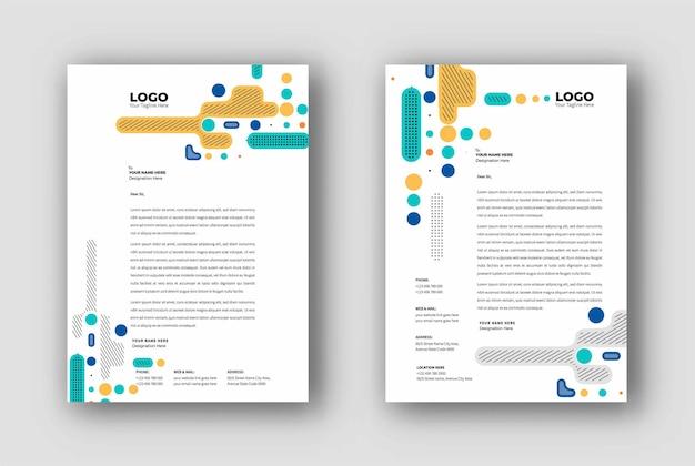 Business letterhead templates design, vector illustration.