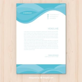 Бизнес-бланк с абстрактными формами синего цвета