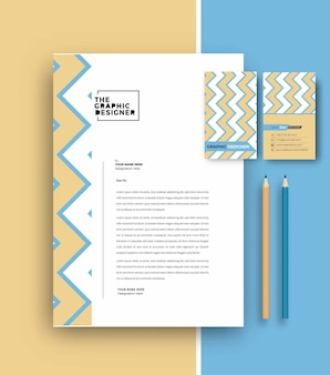Business letterhead with business card templates design, vector illustration.