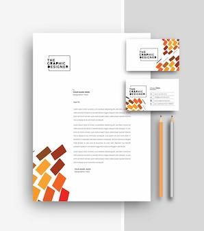 名刺テンプレートデザイン、ベクトルイラストとビジネスレターヘッド。