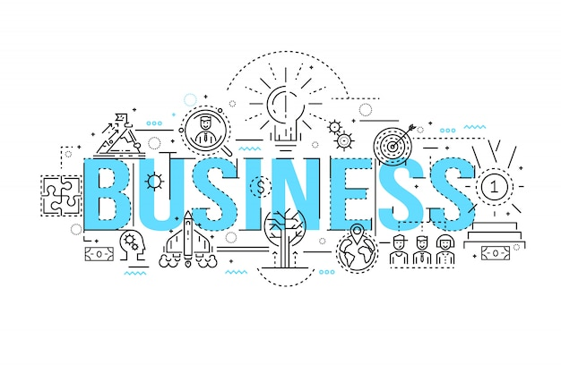 Business linear design Free Vector