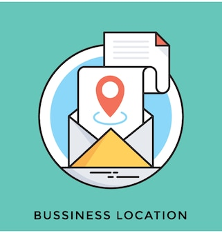 Business location flat vector icon