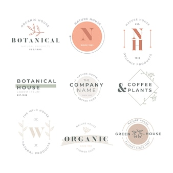 Business logo collection in retro style