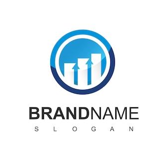 비즈니스 통계 기호 비즈니스 로고 디자인 서식 파일