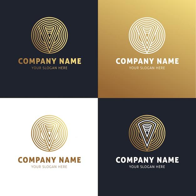 Business logo elegant golden color