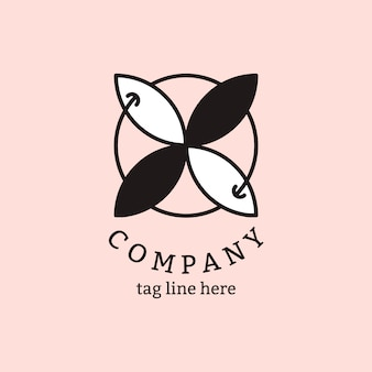 Business logo on pink