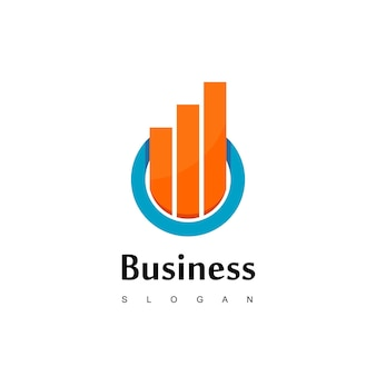 Business logo with good progress diagram for business or sales company