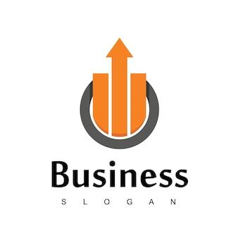ビジネスまたは販売会社のための良い進捗図とビジネスロゴ