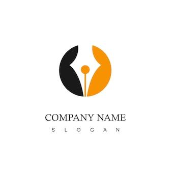 ペンのシンボルとビジネスロゴ