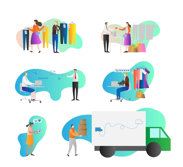 Business loyalty program illustration collection