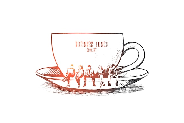 Business lunch concept illustration