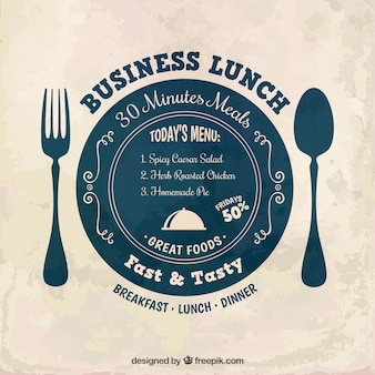 Business lunch label