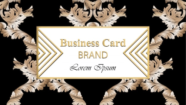 Business luxury card vector. modern abstract design ornamental decor. place for texts