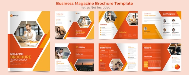 Business magazine brochure template