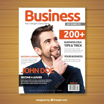 Business magazine with image