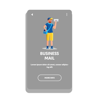 Business mail letter delivered postman