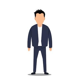 Business man character design,flat design,minimalism