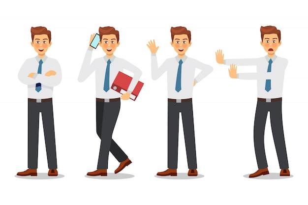 Business man character design.
