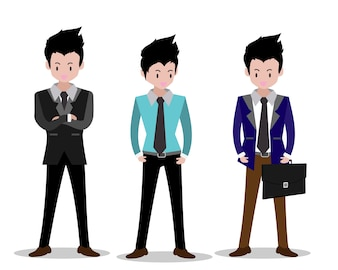 Business man characters