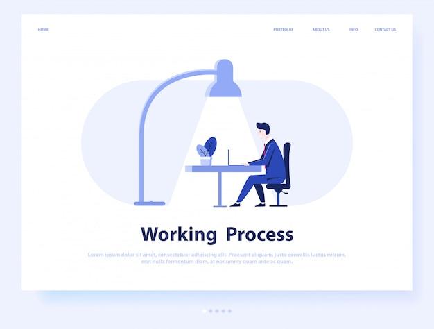 Business man or freelance work