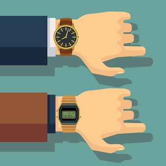Business man hand with wrist watch. save time, punctuality concept. business wristwatch, huma