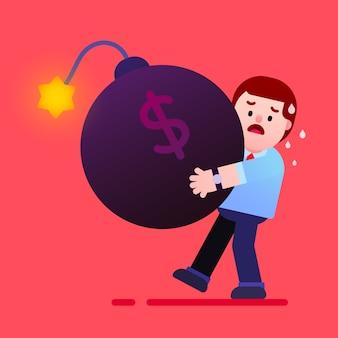 ビジネスマンは借金爆弾を保持しています