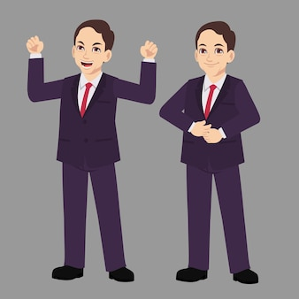 Business man suits with standing poses