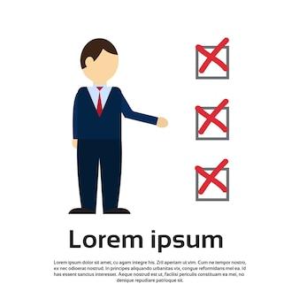 사업가 투표 체크리스트 종이 선거