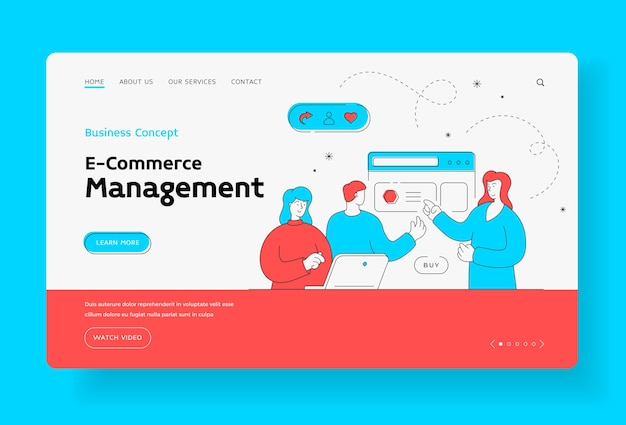 Business management and ecommerce concept