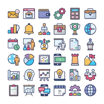 Business management icon collection