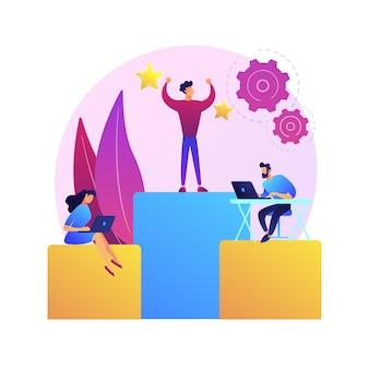 사업 관리, 종속, 직원 작업 조직. 회사 부서, 본사 및 자회사. 임원 및 대리인 만화 캐릭터