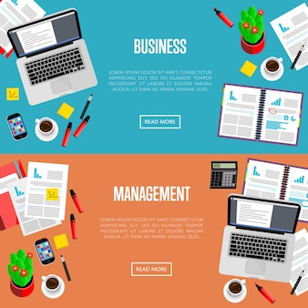 Business management website templates