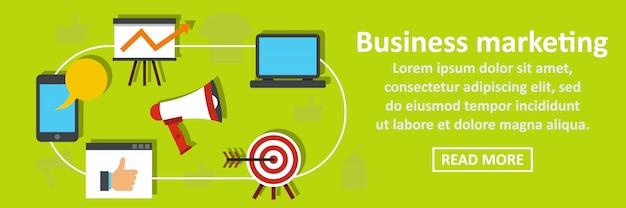 Business marketing banner horizontal concept