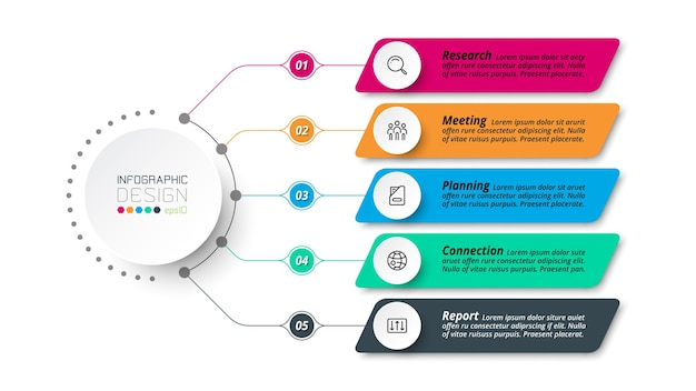 Business or marketing diagram infographic template