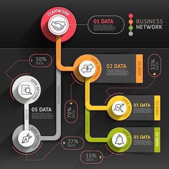 ビジネスマーケティングのインフォグラフィックテンプレート。