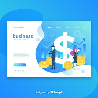 Business marketing landing page template