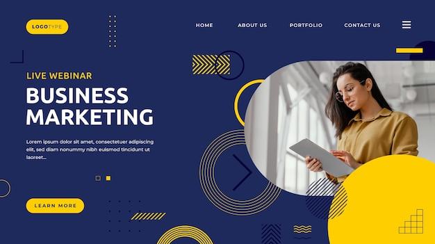 Pagina di destinazione del marketing aziendale