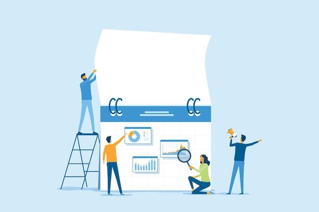 비즈니스 마케팅 계획 개념