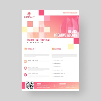 Business marketing proposal flyer or template design.