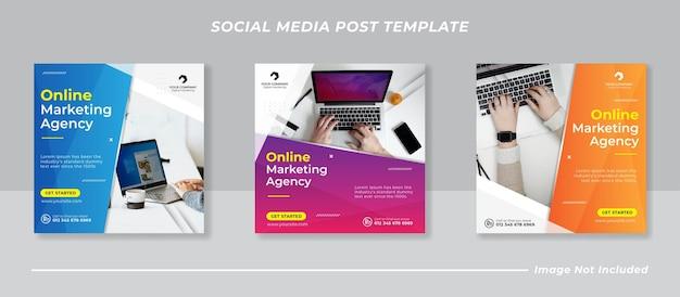Business marketing social media post banner template