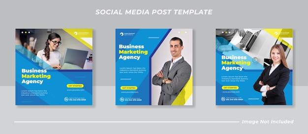 Бизнес маркетинг в социальных сетях пост баннер шаблон