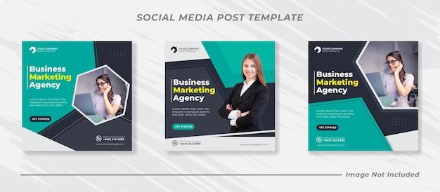 비즈니스 마케팅 소셜 미디어 게시물 배너 템플릿