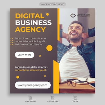 Business marketing social media post banner