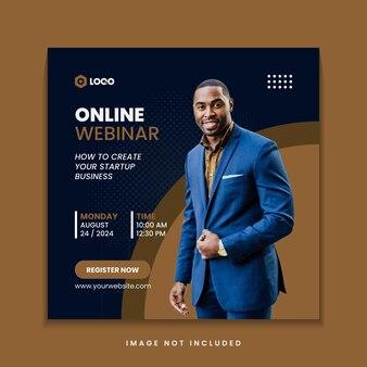 비즈니스 마케팅 웹 세미나 소셜 미디어 instagram 게시물 템플릿