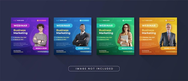 Business marketing webinar social media instagram post template