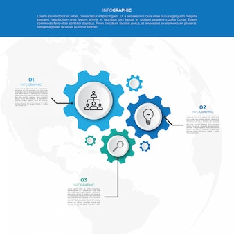 Business mechanism infographic design template