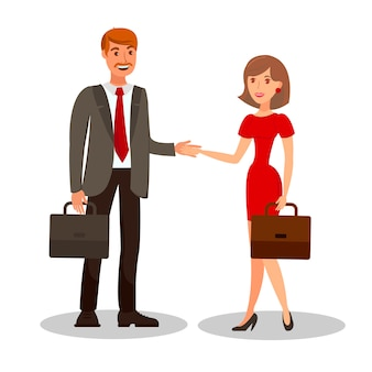 Business meeting conclusion vector illustration