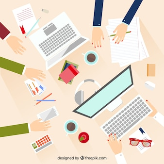 Business meeting in flat design Free Vector