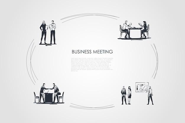 ビジネス会議手描きのシクル