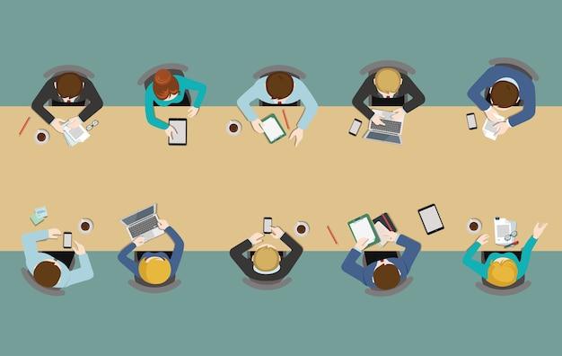 Иллюстрация деловой встречи